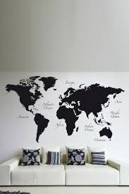 best ideas about world map wall pinterest travel black world map wall decal brewster home fashions hautelook