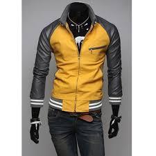 sport biker jacket mens mustard yellow jacket slim fit casual sport jacket