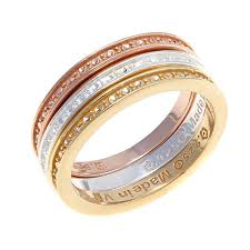 band ring technibond set of 3 diamond pressed band rings 8372935 hsn