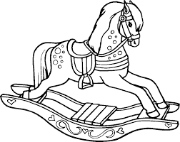rocking horse coloring pages printable elmo riding rocking horse