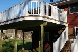 timber tech deck with vinyl rail custom decks of fairfield