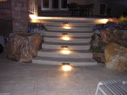 stamped concrete decking u0026 stairs lighting highlands ranch