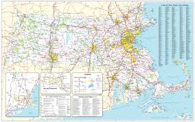 Boston T Map Pdf by Official Massachusetts Transportation Map Traffic U0026 Travel
