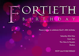40th birthday party invitations template