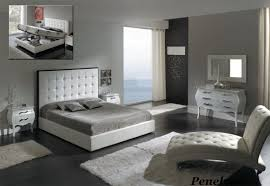 Ideas Brown Modern Black White Leather Bedroom Furniture On - Modern white leather bedroom set