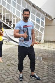 John Abraham Shraddha Kapoor John Abraham Varun Dhawan Snapped At Mehboob