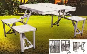aluminum portable picnic table aluminium folding portable camping picnic table chairs caravan