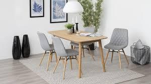 chaise capitonn e grise lot de 2 chaises scandinaves en tissu gris clair capitonné piètement