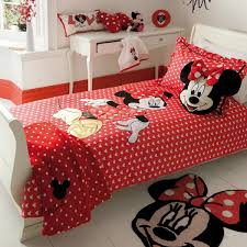Minnie Mouse Twin Comforter Sets Simple Design Of Kids Bedroom With Red Minnie Mouse Toddler