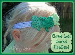 crochet headband tutu huckleberry clover leaf crochet headband tutorial