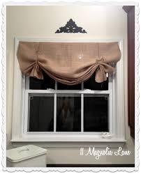 French Door Valances Tutorial How To Make A No Sew Diy Burlap Window Valance 11