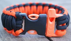 survival bracelet with whistle buckle images 5 x emergency whistle buckles for paracord bracelets orange black jpg