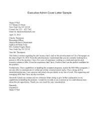 executive cover letter format best template collection