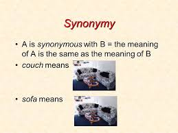 Meaning Of Sofa Semantics 1 Lexical Semantics Ling400 What Is Semantics