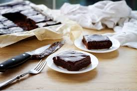 fudgy chocolate cake bars recipe pinch of yum