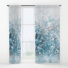 Snowflake Curtains Christmas Christmas Window Curtains Society6
