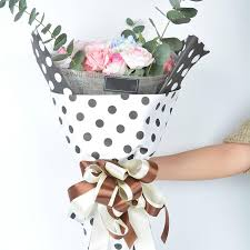cheapest wrapping paper polka dots flowers wrapping paper gift packaging paper korean