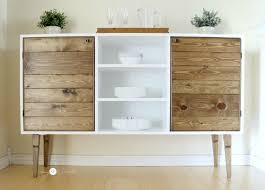 ana white modern rustic buffet diy projects