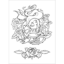 charming design tattoo coloring pages book oliver munden jo