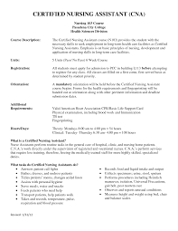 cover letter sample resume for cna with no previous experience