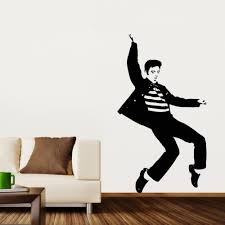 aliexpress com buy pvc fashion dancing elvis presley pattern aliexpress com buy pvc fashion dancing elvis presley pattern bedroom wall sticker wall art decals home decor rock and roll music posters vaelvis13n from