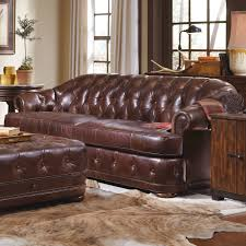 Leather Tufted Sofa by Furniture Tufted Leather Ottoman And Leather Chesterfield Sofa