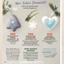 scentsy silver bells fabric scentsy ornament 2017