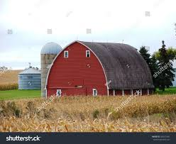 Barn Roof by Beautiful Round Roof Red Barn Silo Stock Photo 492537841