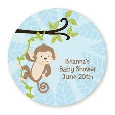 baby shower monkey monkey boy personalized sticker labels monkey boy baby shower