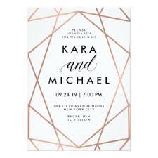 geometric invitations announcements zazzle