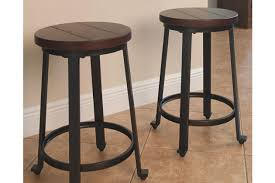 height of counter height bar stools challiman counter height bar stool ashley furniture homestore
