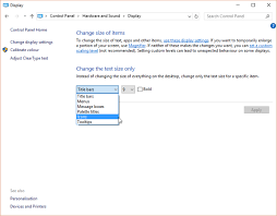 sizes options how to change text sizes and fonts in windows 10