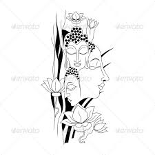 artistic gautam buddha vector illustration by vecras graphicriver
