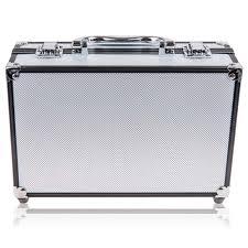 carry all makeup train case with pro makeup and reusable aluminum