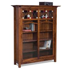Bookcase With Doors And Drawers Amish Bookcases Furniture Amish Bookcasess Amish Furniture
