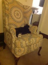 Reupholster Armchair Cost Furniture How To Reupholster A Wingback Chair With Black And