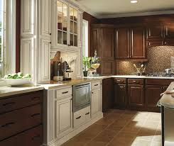 Ivory Colored Kitchen Cabinets Dark Maple Kitchen Cabinets With Ivory Accents Homecrest