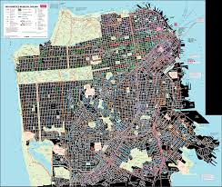 San Francisco Topographic Map by San Francisco Transport Map U2022 Mapsof Net