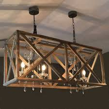 Wooden Chandeliers Large Wooden Chandelier With Metal And Chandeliers