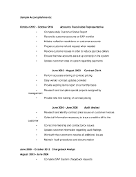 sample resume for accounts receivable accounts receivable
