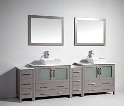 vanity art 96 inch double sink bathroom vanity set with ceramic