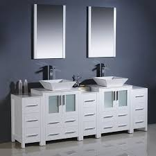 shop fresca bari white double vessel sink bathroom vanity with