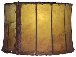 Yellow Floor Lamp Shade Leather 16