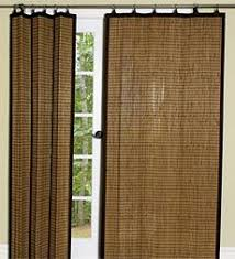 Bamboo Curtains For Windows Shades Horizons Woven Pole Track Transitional Living Room