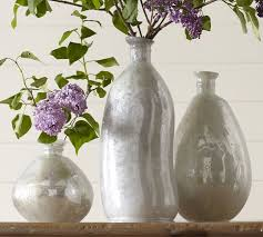 Mercury Glass Vases Diy Milky Mercury Glass Vases Pottery Barn