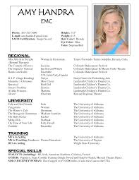 Acting Resume Template No Experience Acting Resume Builder Resume Templates And Resume Builder