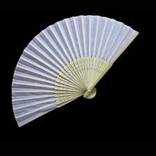 bamboo fan 50pcs free shipping white silk fan bamboo folding fan