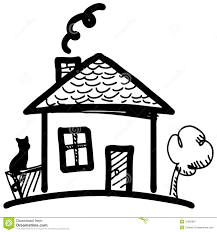 mansion clipart black and white little cartoon house royalty free stock photography image 31682867