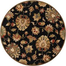 Black Round Area Rugs by Home Decorators Collection Spring On The Farm Black 8 Ft Round