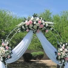 Metal Garden Arches And Trellises 7 5 Ft White Metal Tall Arch Wedding Garden Bridal Party